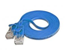 Wirewin Slim Patchkabel: UTP, 0.5m, blau