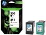 HP Tinte Nr.350 + Nr.351 - Black/Dreifarbig